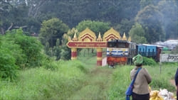 Kakku Pagoda Railway Train Photo