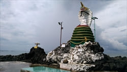 Snake Pagoda Thazin Beach Photo