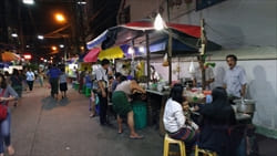 Yangon Porridge street shop weak taste good dinner photo